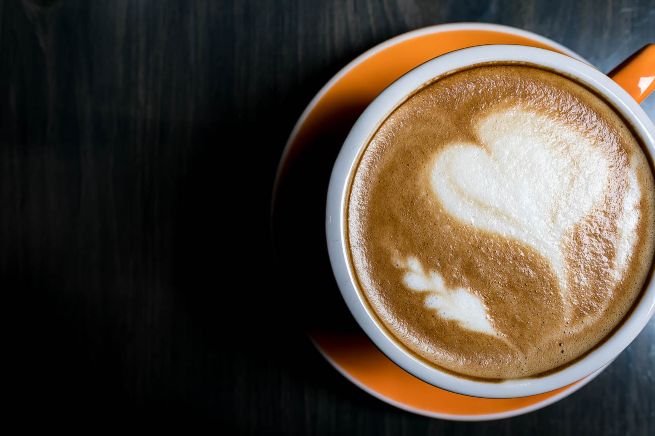 Latte with a heart-shaped foam topper / Image: Amy Elisabeth Spasoff // Published: 3.4.18<p></p>