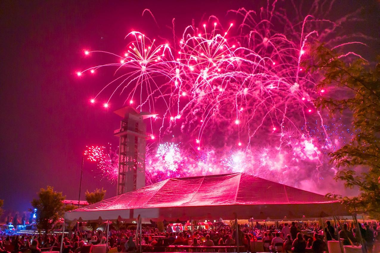 The 33rd annual Red, White and Blue Ash Independence Day party was held on July 4, 2018 at Summit Park. The event featured music performances by John Waite, Pat Benatar, and Neil Giraldo. And the night concluded with a 35-minute fireworks show by Rozzi. / Image: Mike Bresnen // Published: 7.5.18