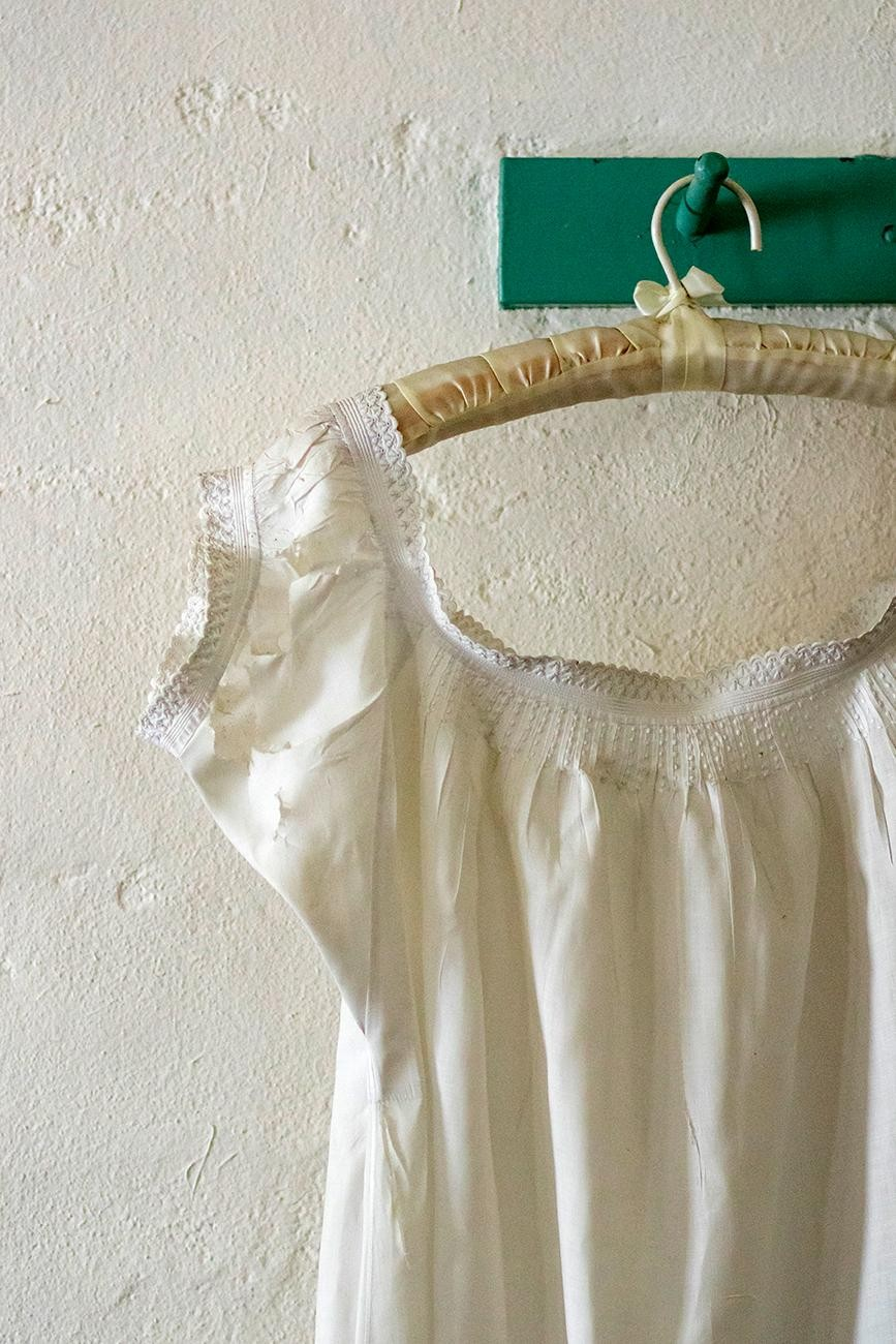 <p>Ulysses S. Grant's mothers nightgown. / Image: Allison McAdams</p>