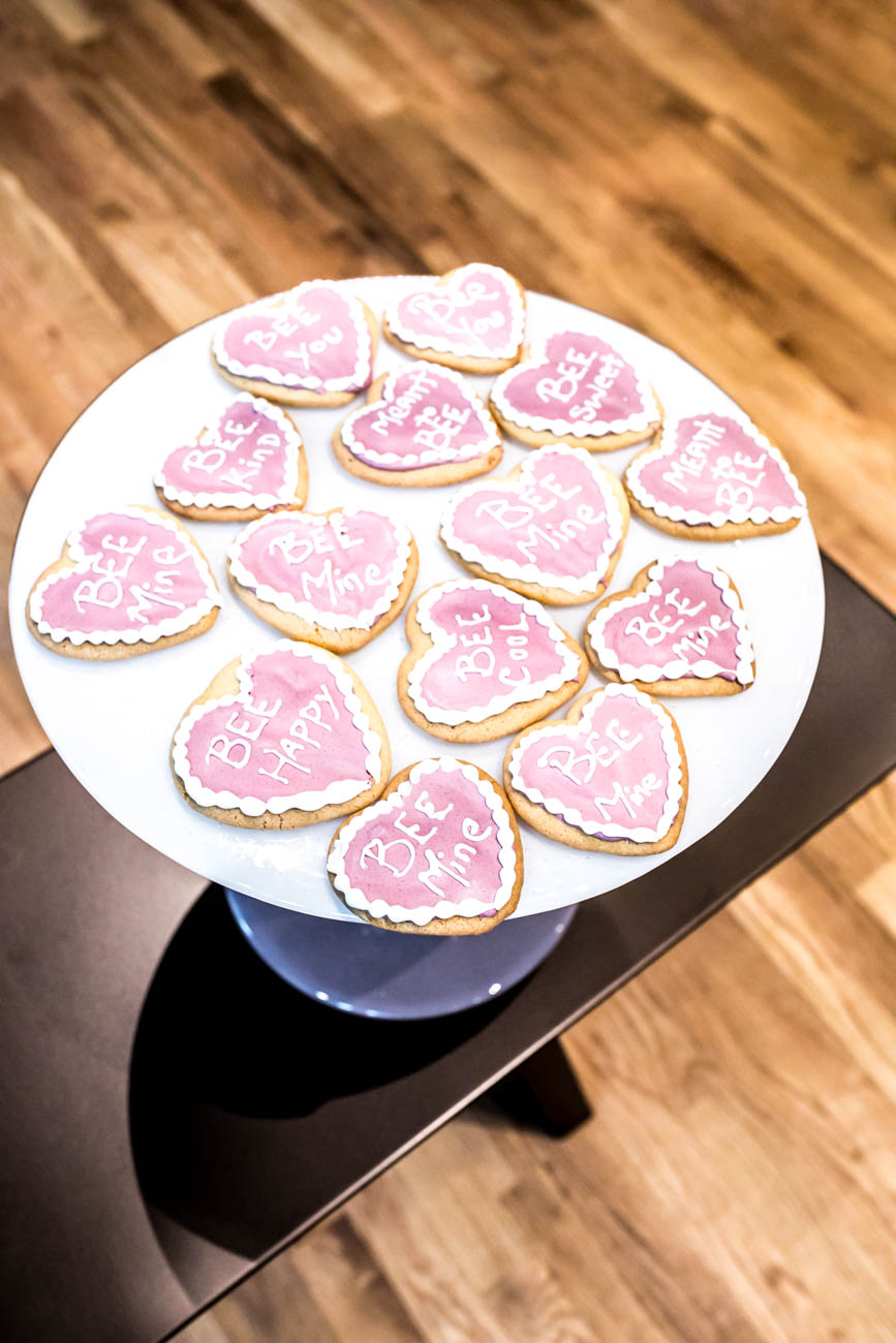 &quot;Bee&quot; someone's favorite by bringing them these iced heart cookies! / Image: Amy Elisabeth Spasoff // Published: 3.4.18<p></p>